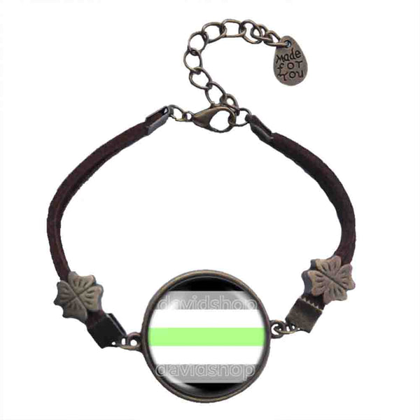 Agender Pride Bracelet Flag Fashion Jewelry Cosplay