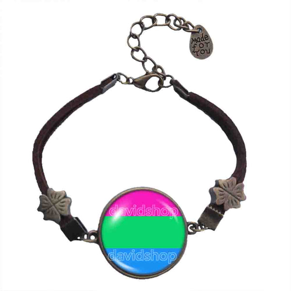 Polisexual Pride Bracelet Symbol Flag Fashion Jewelry Cosplay