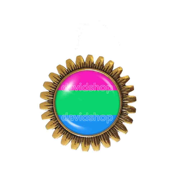Polisexual Pride Brooch Badge Pin Flag Cute Gift Fashion Jewelry Cosplay