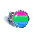 Polisexual Pride Ring Flag Fashion Jewelry Cosplay