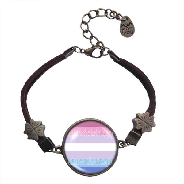 Bigender Pride Bracelet Symbol Flag Fashion Jewelry Cosplay