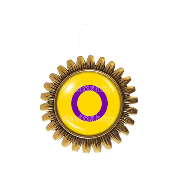 Intersex Pride Brooch Badge Pin Flag Cute Gift Fashion Jewelry Cosplay