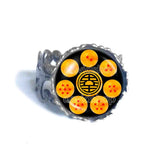 Turtle World King Descendant Martial Artist logo Goku Symbol Art Dragon Ball Z Star Ring Cosplay Charm Cute Gift Fashion Jewelry