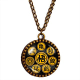 Turtle World King Goku Symbol Art Dragon Ball Z Necklace Pendant Fashion Jewelry Cosplay Word