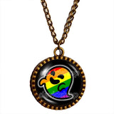 Gaysper Necklace Pendant Gay Pride Rainbow Flag Fashion Jewelry Cute LGBT LGBTQ Sign