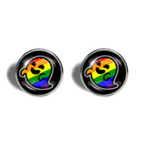 Gaysper Cufflinks Cuff links Gay Pride Rainbow Flag Fashion Jewelry Cute LGBT LGBTQ Sign