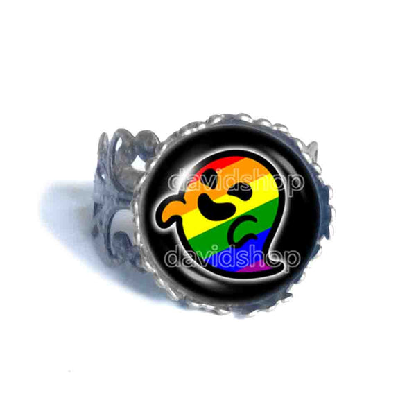 Gaysper Ring Gay Pride Rainbow Flag Fashion Jewelry Cute LGBT LGBTQ Sign