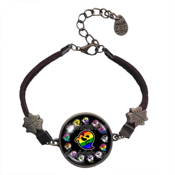 Lesbian Asexual Pansexual Agender Genderfluid Bigender Intersex Non Binary Gay Pride Flag Gaysper Bracelet Fashion Jewelry Cute LGBT LGBTQ Cute Sign