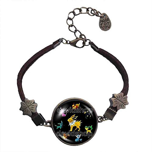Pokemon Eevee Bracelet Symbol Eeveelution Anime Pendant Jewelry Cosplay - DDavid'SHOP