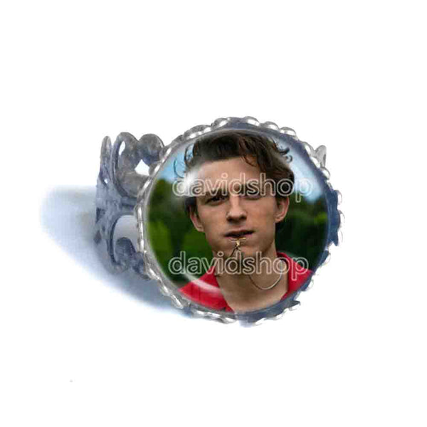 Tom Holland Ring Charm Photo Art Glass Fashion Jewelry Cosplay Love