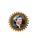 Tom Holland Brooch Badge Pin Photo Art Glass Pendant Fashion Jewelry Cosplay Love