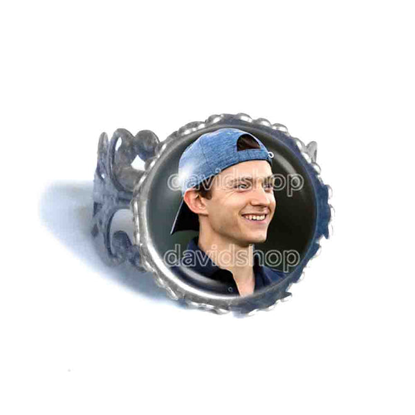 Tom Holland Ring Photo Art Glass Fashion Jewelry Cosplay Love