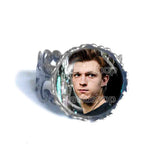 Tom Holland Ring Charm Glass Fashion Jewelry Cosplay Love