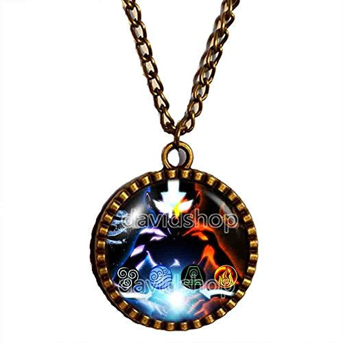 Avatar the last Airbender Necklace Fire Elements Water Tribe Earth Kingdom Air Nomads Pendant Legend of Korra Jewelry - DDavid'SHOP