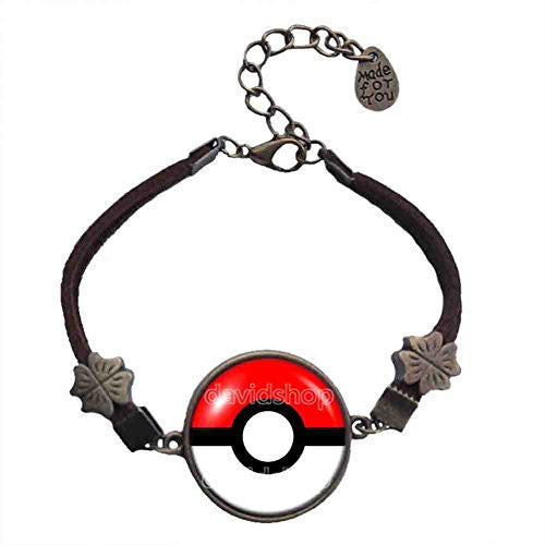 Pokemon Pokeball Bracelet Fashion Jewelry Cosplay Gift Cute Poke ball Red White