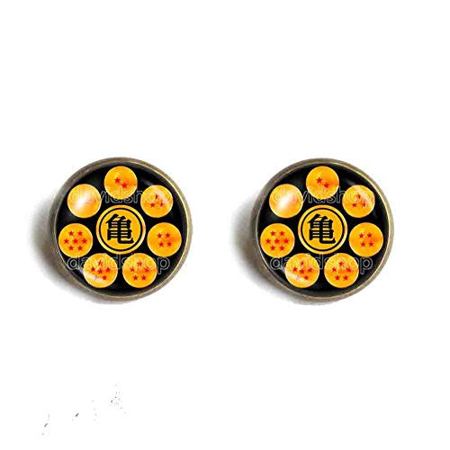 Dragon Ball Z Goku Symbol Ear Cuff Turtle logo Earring Poster Photo