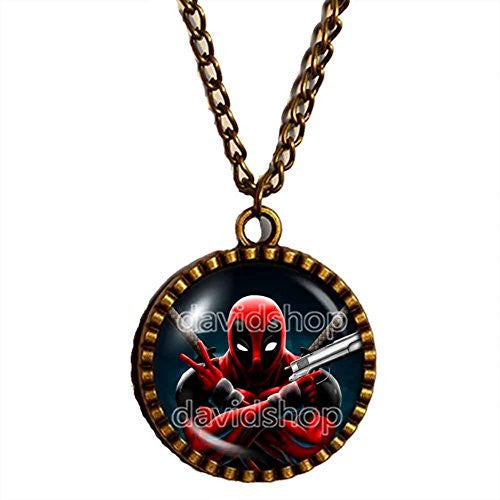 Deadpool Superhero Necklace Pendant Fashion Jewelry Gift Cosplay 2016 Chain Men