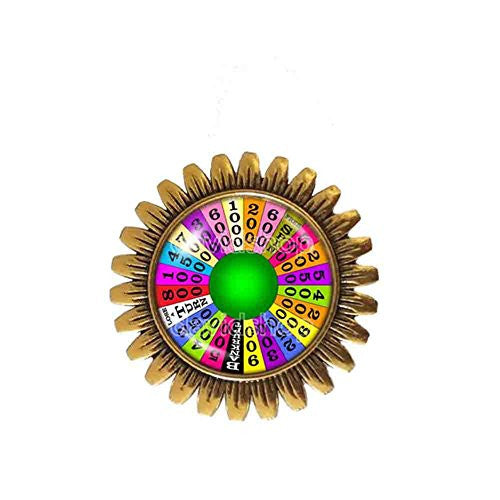 Wheel Of Fortune Brooch Badge Pin Symbol Pendant Cosplay Fashion Jewelry Charm Cute