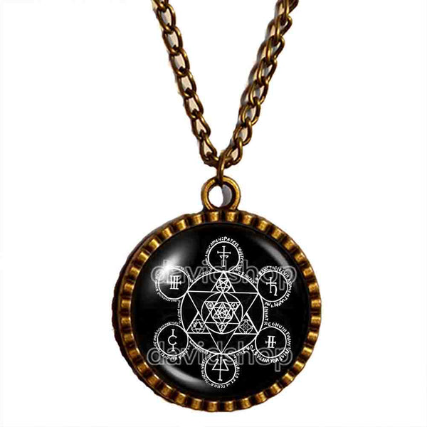 Demon Summoning Angel Bind Necklace Pendant Fashion Jewelry Symbol Art Cute Gift Cosplay Charm