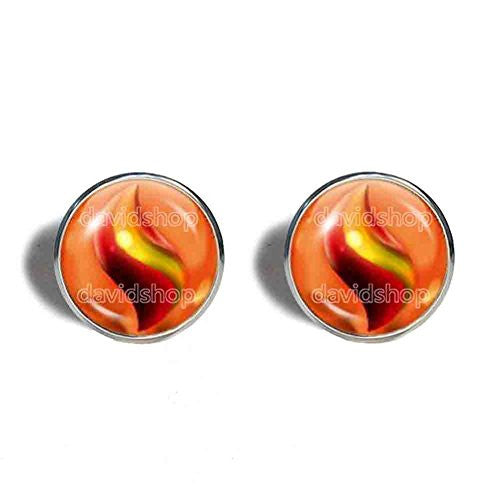 Pokemon Charizardite Y Mega Stone Cufflinks Cuff links Fashion Jewelry Charizard Cosplay Charm - DDavid'SHOP