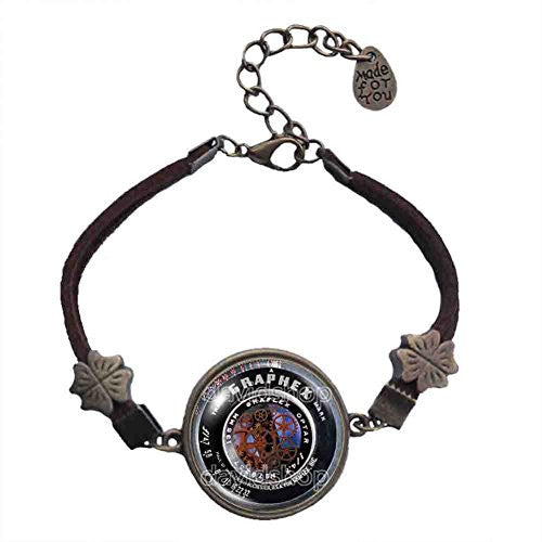 Gear Steampunk Vintage Old Camera Lens Bracelet Symbol Picture Art Pendant Fashion Jewelry