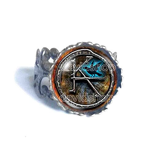 The Dark Tower KA Symbol Ring Pendant Fashion Jewelry Cosplay Cute Gift