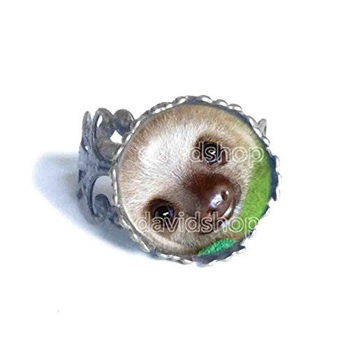Baby Sloth Ring Fashion Pet Jewelry Cosplay Charm Animal Cute Gift