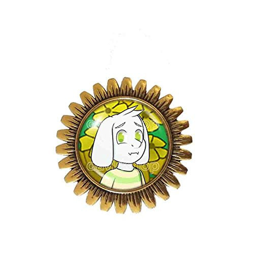Undertale Asriel Dreemurr Brooch Badge Pin Jewelry Cosplay Cute Gift