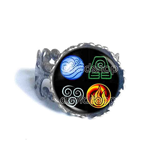 Avatar the last Airbender Ring Elements Nation Jewelry Legend of Korra