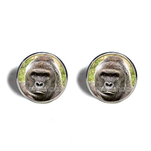 Harambe Gorilla Cufflinks Cuff links Poster Photo Pendant Fashion Jewelry Cute Gift Cosplay Charm