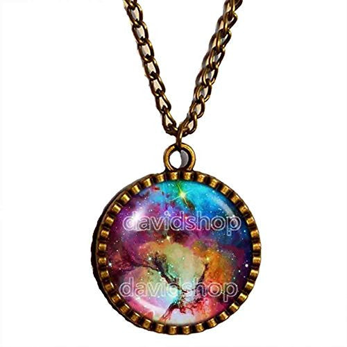 Astronomy Galaxy Necklace Astrology Constellation Andromeda Pendant Fashion Jewelry Nebula Planet Space Universe - DDavid'SHOP