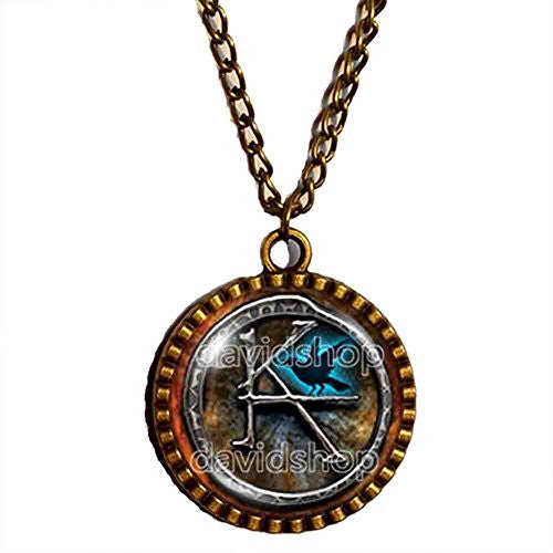 The Dark Tower KA Symbol Necklace Pendant Fashion Jewelry Cosplay Cute Gift - DDavid'SHOP