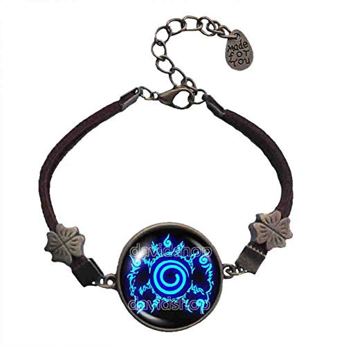 Naruto Seal Bracelet Pendant Fashion Jewelry Anime Cosplay Symbol Blue