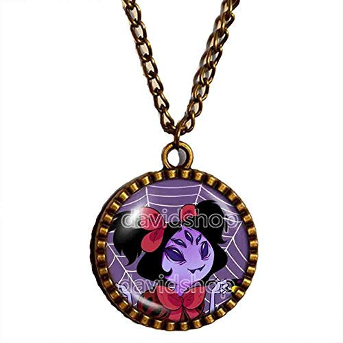 Undertale Muffet Necklace Pendant Fashion Jewelry Undyne Small Cute Purple Spider
