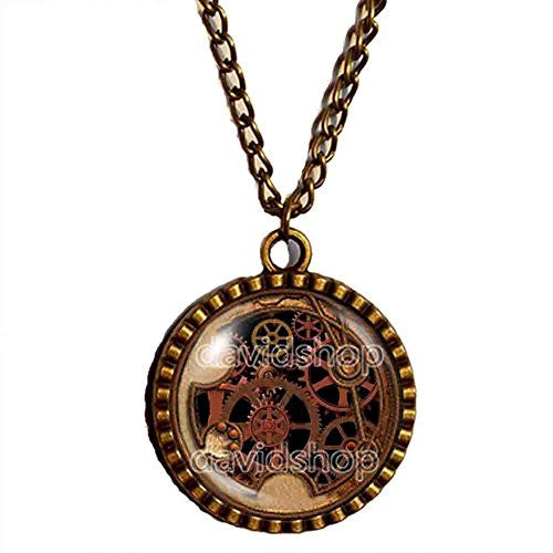 Dr Doctor Who Gallifreyan Necklace Symbol Time Lord Pendant Gear Steampunk I Love You