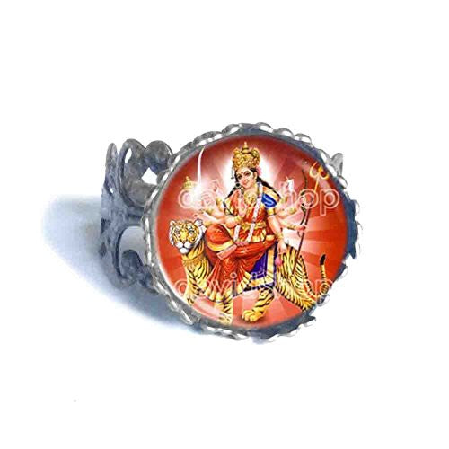 Devi Durga Shakti Maa Ring Hindu Gods Goddesses Fashion Jewelry
