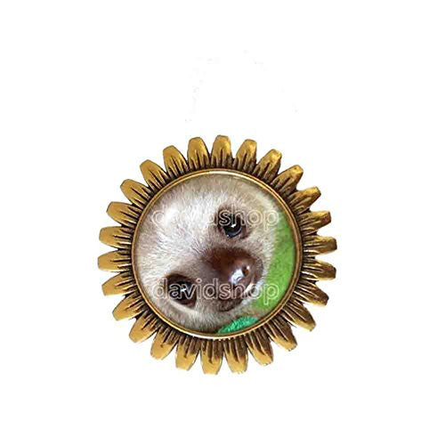 Baby Sloth Brooch Badge Pin Anime Fashion Jewelry Animal Pet Cosplay