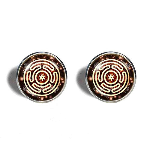 Wheel of Hecate Cufflinks Cuff links Picture Art Fashion Jewelry Cosplay