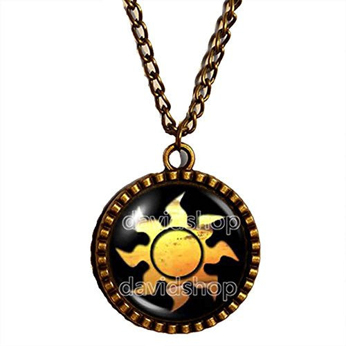 Magic the Gathering Necklace Sun Symbol Pendant Mana Jewelry Gift Cosplay MTG