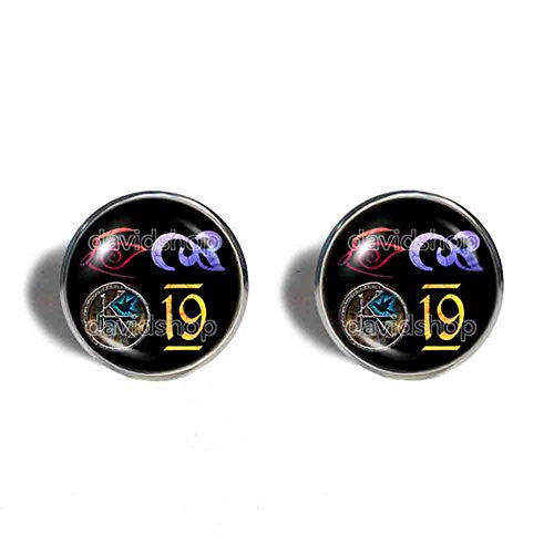 The Dark Tower KA Symbol Cufflinks Fashion Jewelry Cosplay Cute Gift For Mens Number 19 Nineteen