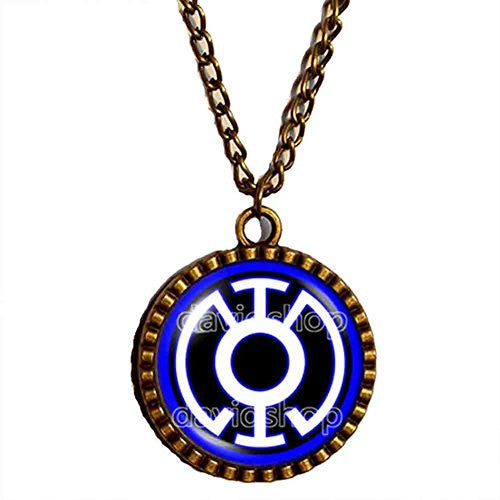Blue Lantern Necklace Pendant Fashion Jewelry Gift Cosplay Chain - DDavid'SHOP