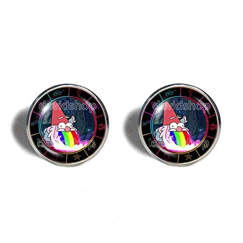 Gravity Falls Rainbow Gnome Cufflinks Cuff links Jewelry Steve Cosplay