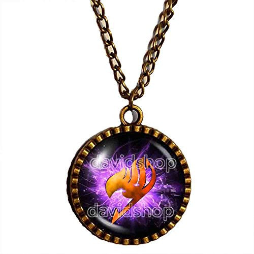 Fairy Tail Guild Symbol Necklace Mark Pendant Jewelry Cute Gift Cosplay Fire Wing Natsu Dragneel
