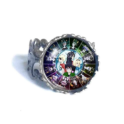 Homestuck Ring God Mandala Cosplay Fashion Jewelry Zodiac