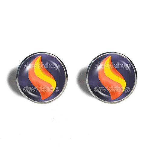 Pokemon Garchompite Mega Stone Cufflinks Cuff links Fashion Jewelry Garchomp Cosplay Charm