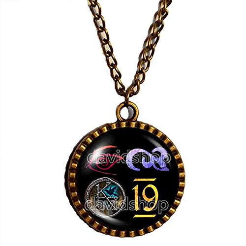 The Dark Tower KA Symbol Necklace Pendant Fashion Jewelry Cosplay Cute Number 19 Nineteen - DDavid'SHOP