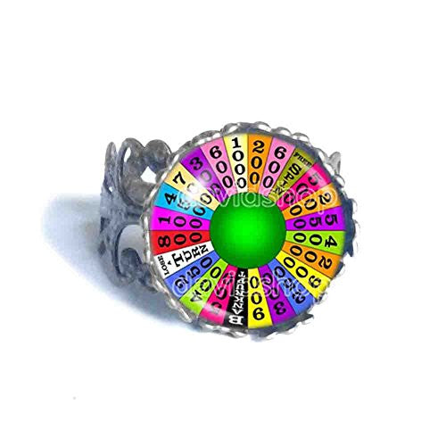 Wheel Of Fortune Ring cosplay fashion Jewelry Charm symbol