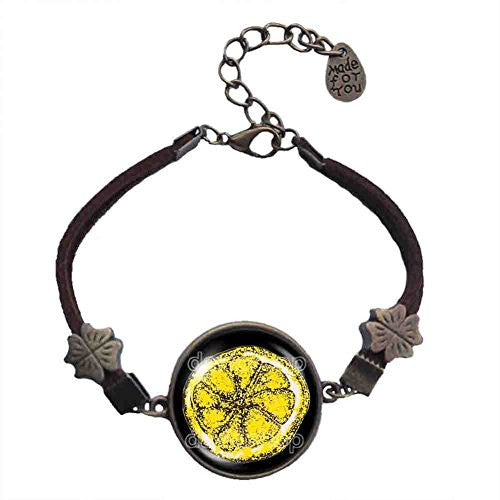 The Stone Roses Lemon Bracelet Poster Photo Symbol Pendant Fashion Jewelry