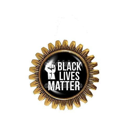 Black Lives Matter Brooch Badge Pin Symbol Fashion Jewelry