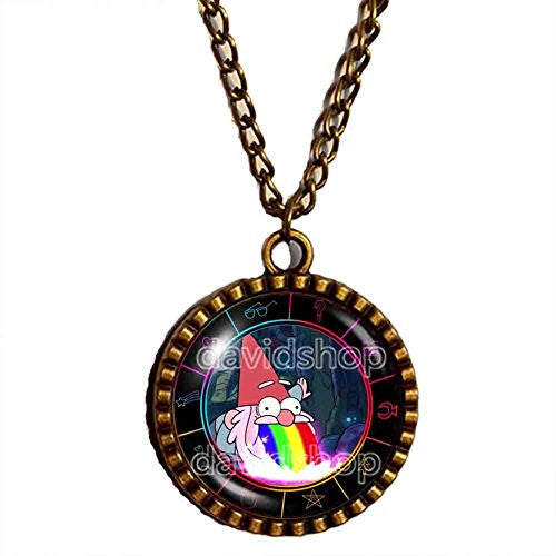 Gravity Falls Rainbow Gnome Necklace Pendant Jewelry Steve Cosplay